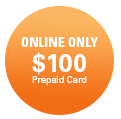 Online Only $100 Prepaid Card