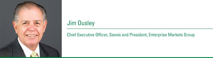 Jim Ousley, Chief Executive Offi cer, Savvis and President, Enterprise Markets Group